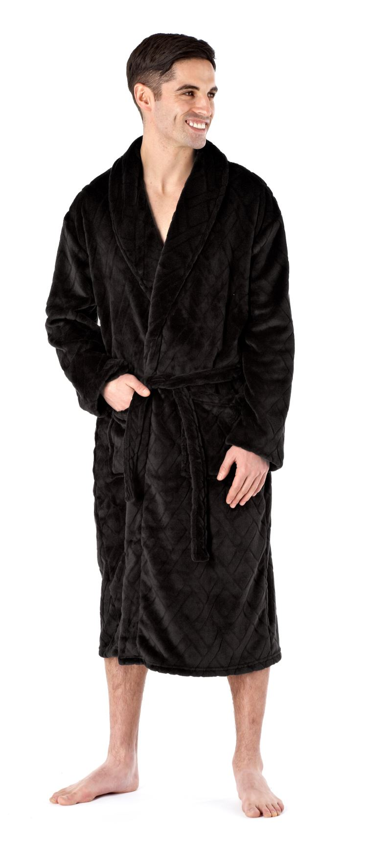 Our men's robe selection is some of the warmest, most comfortable and coziest sleepwear available. Shop different materials like fleece, chamois or flannel robes, plus hooded robes ideal for that extra bit of warmth come winter.