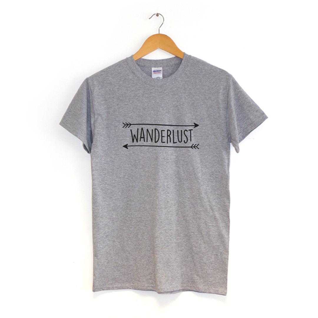 WANDERLUST-Camiseta-Viaje-Hipster-INDIE-Ropa-Regalo