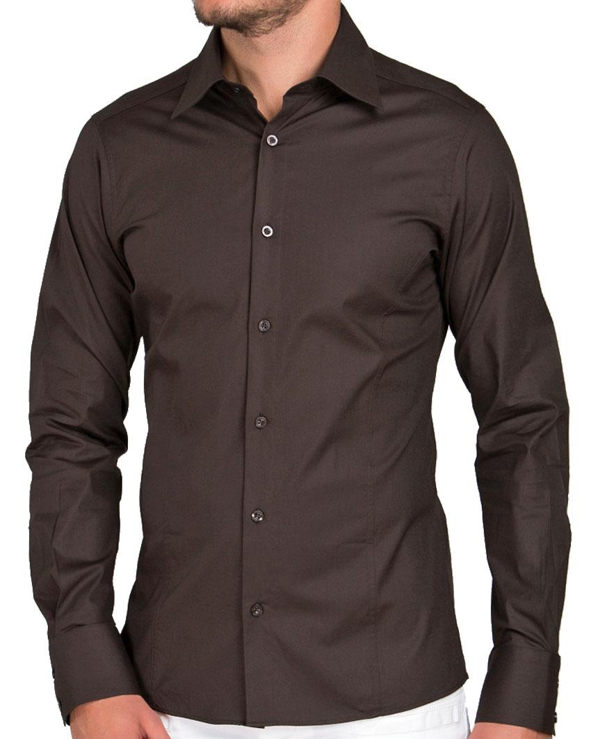 Camicia-Uomo-Slim-Fit-Business-Tempo-Libero-Matrimonio-Maglia-Stiro-Facile miniatura 29