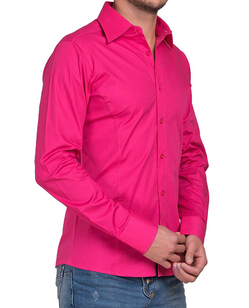 Camicia-Uomo-Slim-Fit-Business-Tempo-Libero-Matrimonio-Maglia-Stiro-Facile miniatura 52