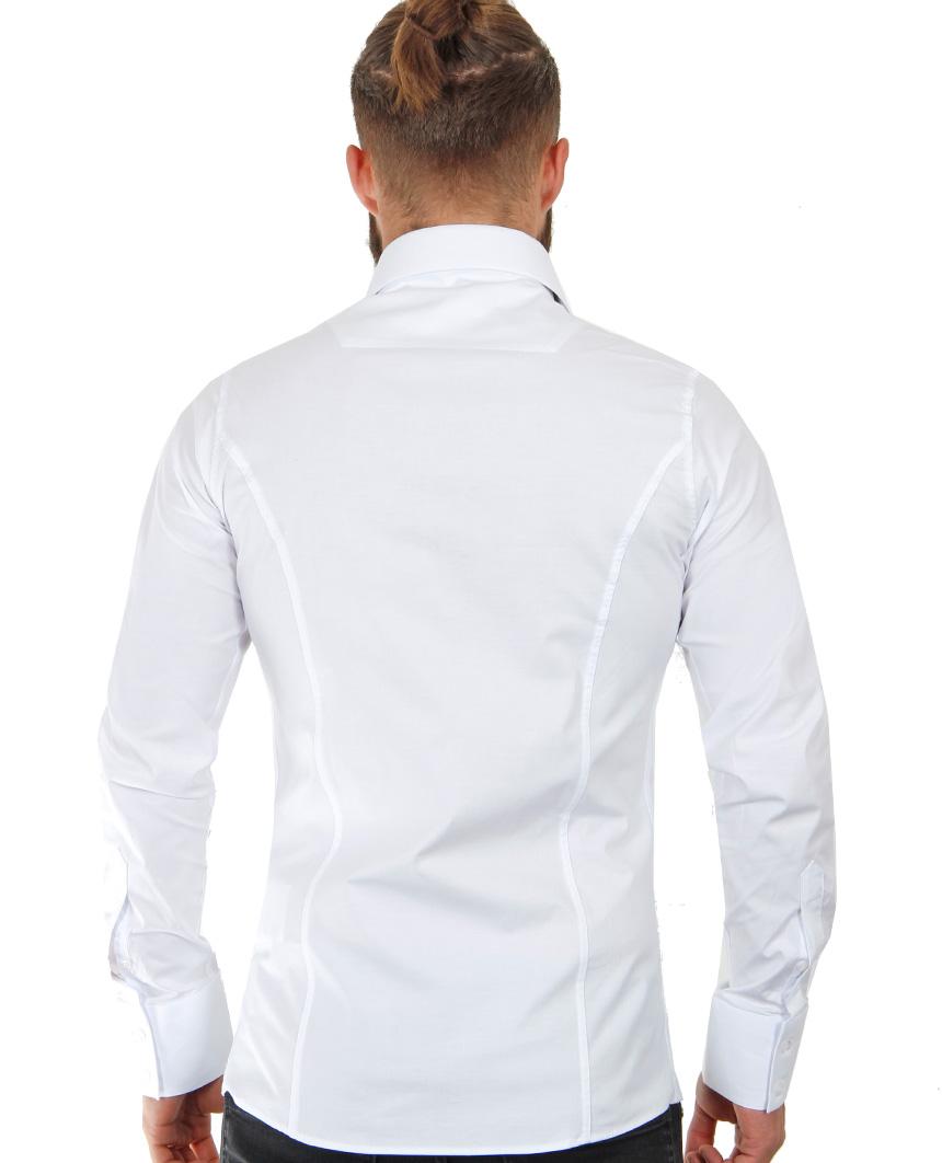Camicia-Uomo-Slim-Fit-Business-Tempo-Libero-Matrimonio-Maglia-Stiro-Facile miniatura 82