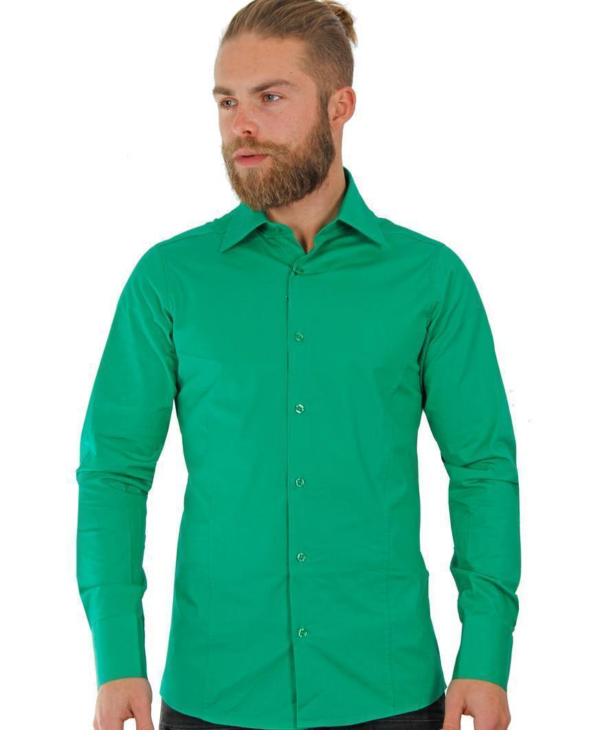 Camicia-Uomo-Slim-Fit-Business-Tempo-Libero-Matrimonio-Maglia-Stiro-Facile miniatura 62