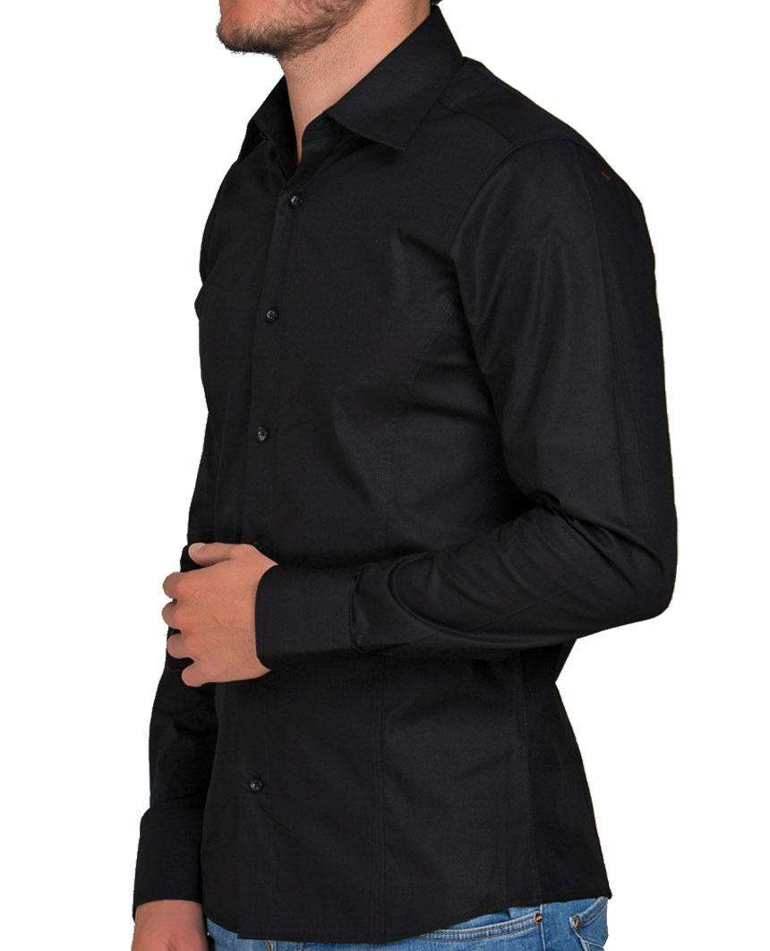 Camicia-Uomo-Slim-Fit-Business-Tempo-Libero-Matrimonio-Maglia-Stiro-Facile miniatura 45