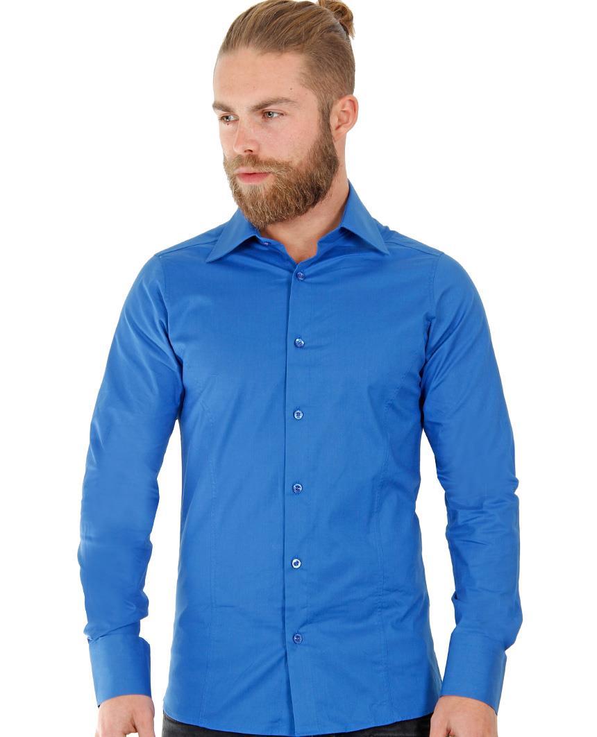 Camicia-Uomo-Slim-Fit-Business-Tempo-Libero-Matrimonio-Maglia-Stiro-Facile miniatura 54