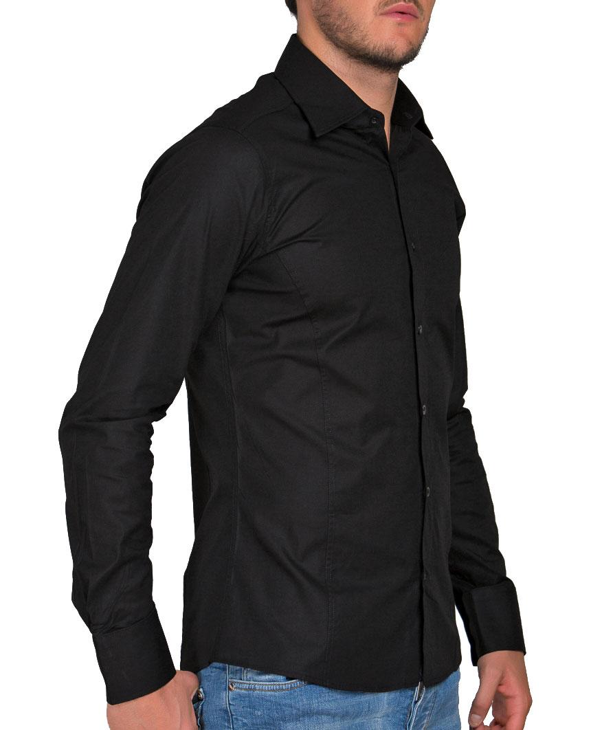 Camicia-Uomo-Slim-Fit-Business-Tempo-Libero-Matrimonio-Maglia-Stiro-Facile miniatura 46