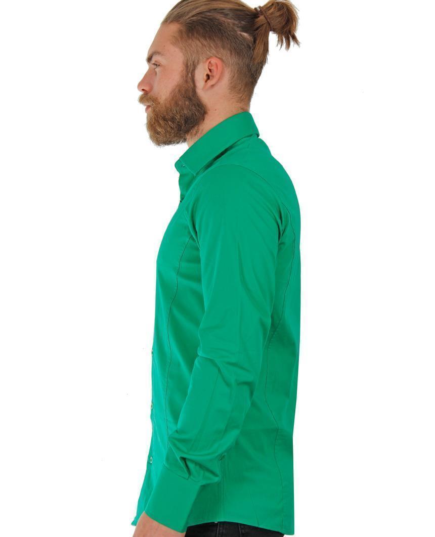 Camicia-Uomo-Slim-Fit-Business-Tempo-Libero-Matrimonio-Maglia-Stiro-Facile miniatura 63