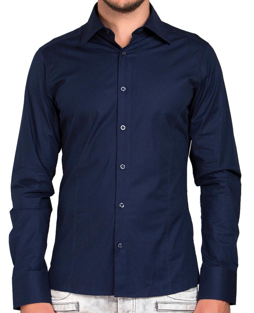 Camicia-Uomo-Slim-Fit-Business-Tempo-Libero-Matrimonio-Maglia-Stiro-Facile miniatura 38