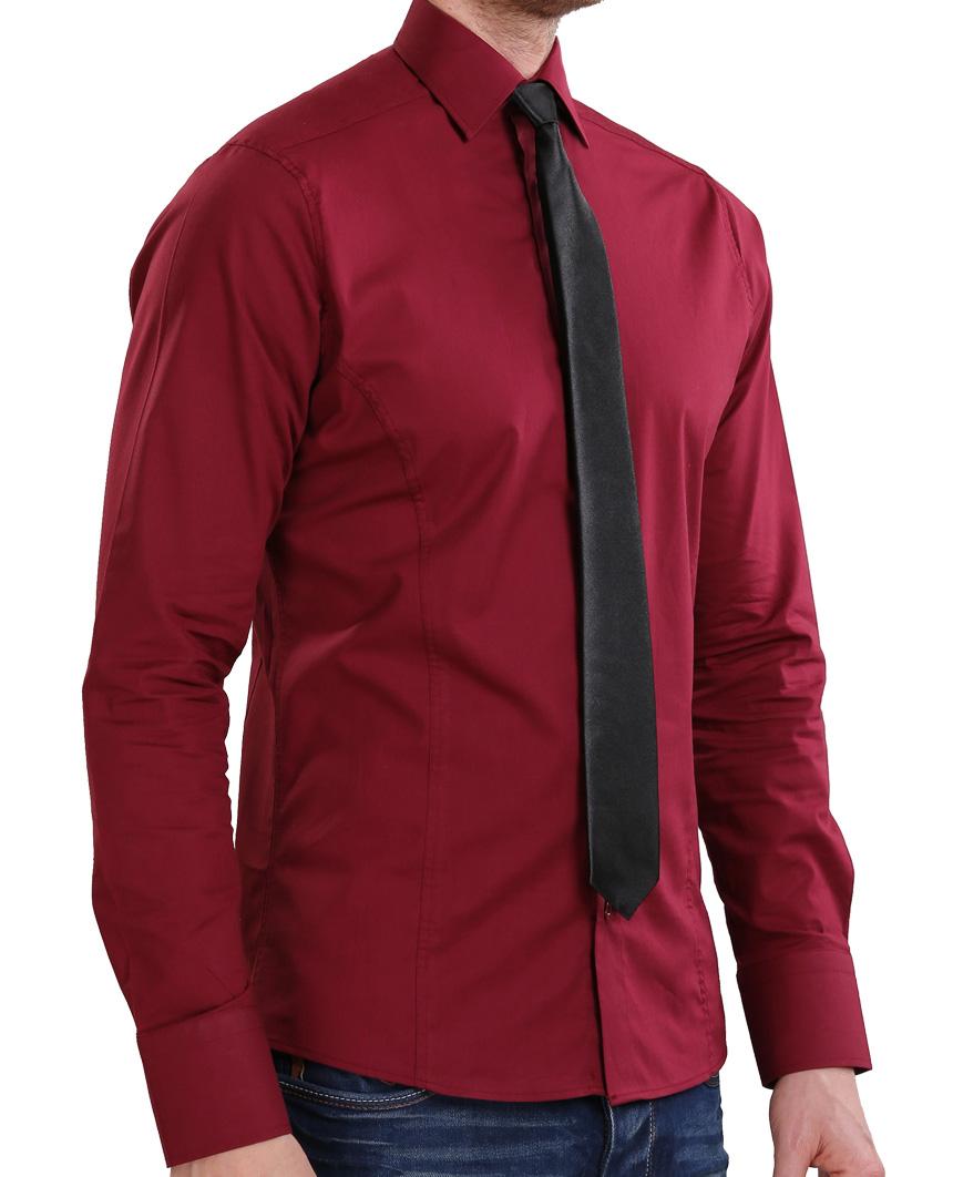 Camicia-Uomo-Slim-Fit-Business-Tempo-Libero-Matrimonio-Maglia-Stiro-Facile miniatura 68