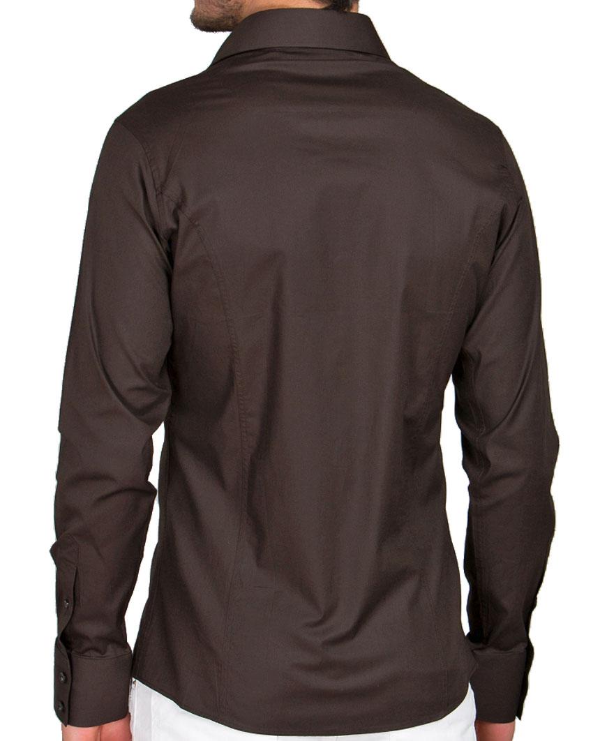 Camicia-Uomo-Slim-Fit-Business-Tempo-Libero-Matrimonio-Maglia-Stiro-Facile miniatura 31
