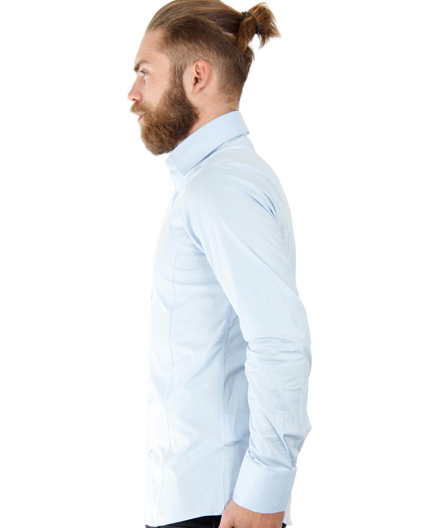 Camicia-Uomo-Slim-Fit-Business-Tempo-Libero-Matrimonio-Maglia-Stiro-Facile miniatura 35