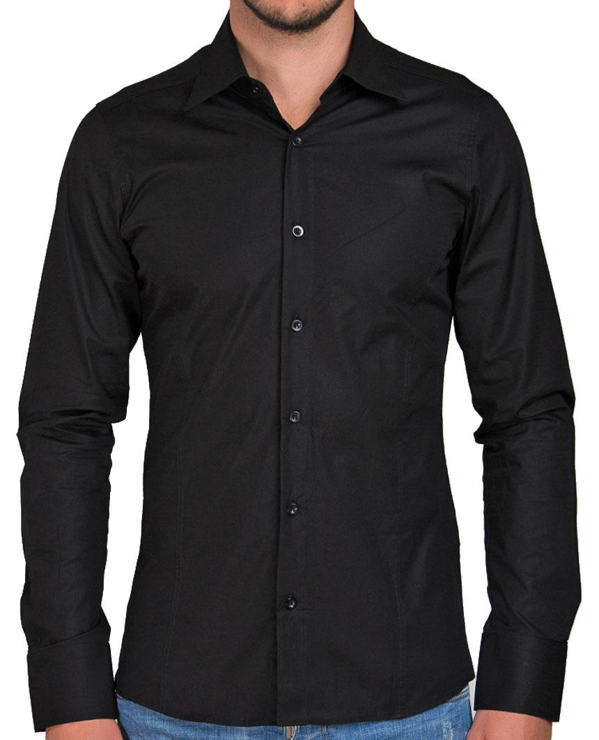 Camicia-Uomo-Slim-Fit-Business-Tempo-Libero-Matrimonio-Maglia-Stiro-Facile miniatura 44
