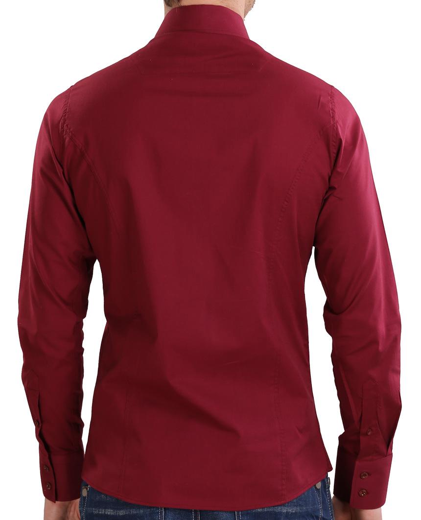 Camicia-Uomo-Slim-Fit-Business-Tempo-Libero-Matrimonio-Maglia-Stiro-Facile miniatura 69