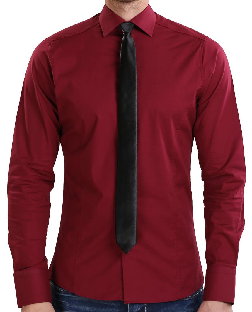 Camicia-Uomo-Slim-Fit-Business-Tempo-Libero-Matrimonio-Maglia-Stiro-Facile miniatura 66