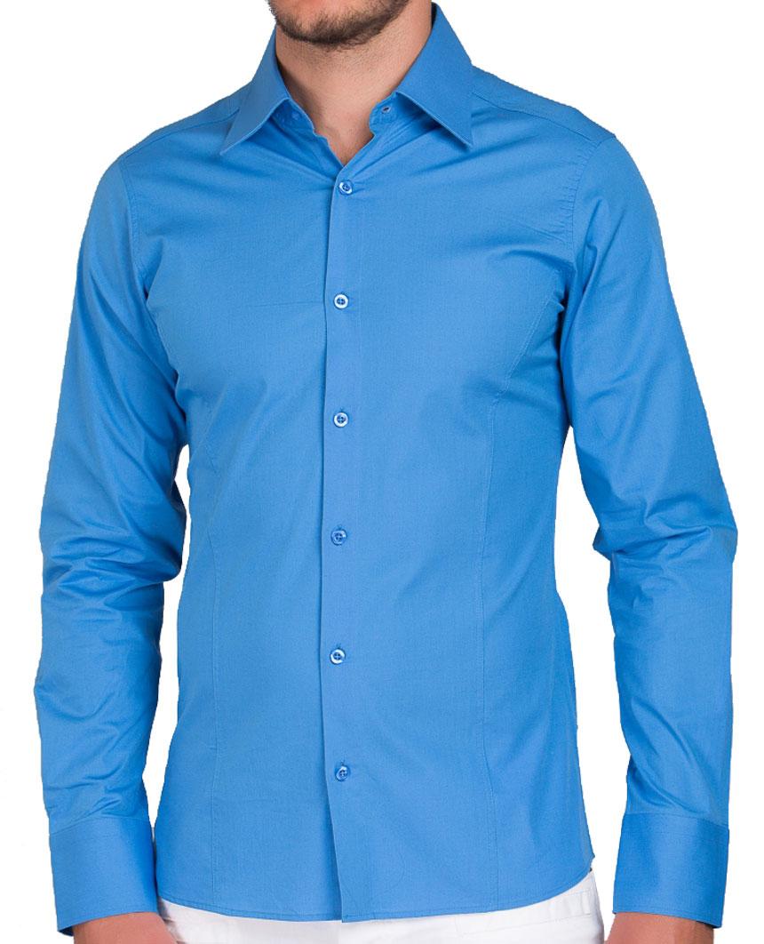 Camicia-Uomo-Slim-Fit-Business-Tempo-Libero-Matrimonio-Maglia-Stiro-Facile miniatura 24