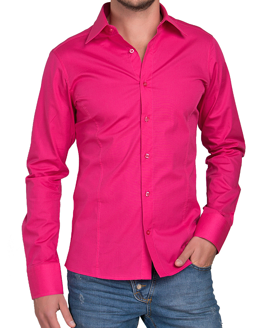 Camicia-Uomo-Slim-Fit-Business-Tempo-Libero-Matrimonio-Maglia-Stiro-Facile miniatura 49