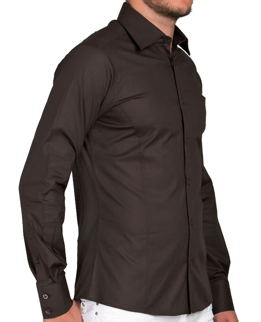 Camicia-Uomo-Slim-Fit-Business-Tempo-Libero-Matrimonio-Maglia-Stiro-Facile miniatura 30