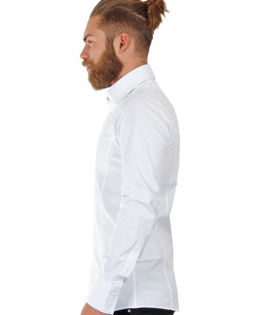 Camicia-Uomo-Slim-Fit-Business-Tempo-Libero-Matrimonio-Maglia-Stiro-Facile miniatura 81