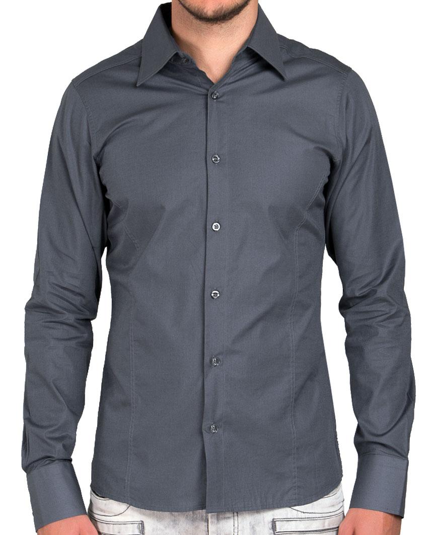 Camicia-Uomo-Slim-Fit-Business-Tempo-Libero-Matrimonio-Maglia-Stiro-Facile miniatura 71