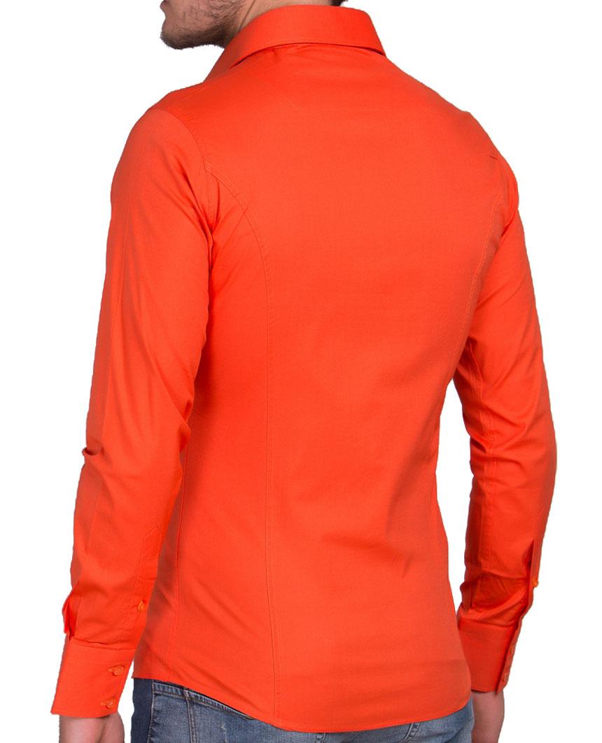 Camicia-Uomo-Slim-Fit-Business-Tempo-Libero-Matrimonio-Maglia-Stiro-Facile miniatura 21