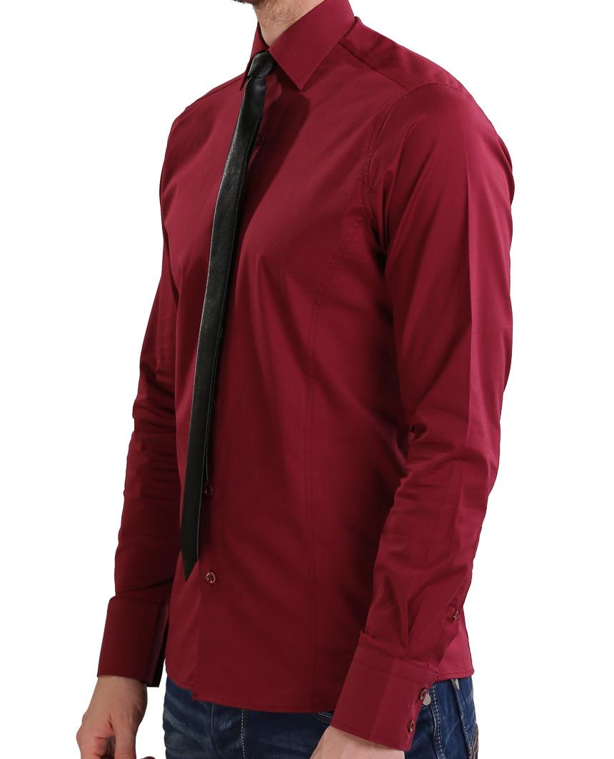 Camicia-Uomo-Slim-Fit-Business-Tempo-Libero-Matrimonio-Maglia-Stiro-Facile miniatura 67