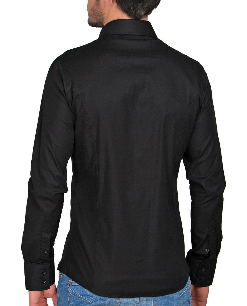 Camicia-Uomo-Slim-Fit-Business-Tempo-Libero-Matrimonio-Maglia-Stiro-Facile miniatura 47