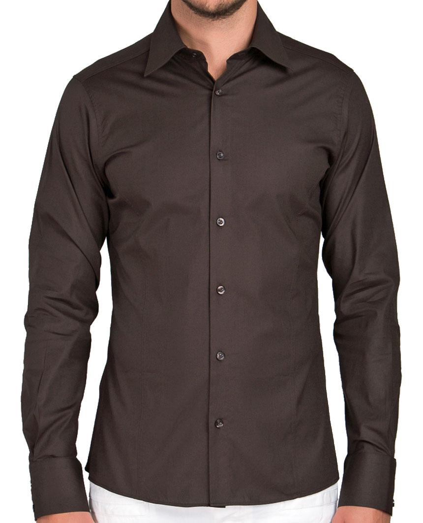 Camicia-Uomo-Slim-Fit-Business-Tempo-Libero-Matrimonio-Maglia-Stiro-Facile miniatura 28
