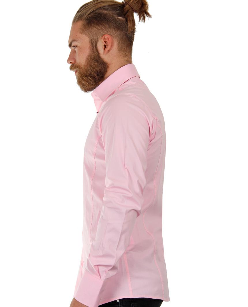 Camicia-Uomo-Slim-Fit-Business-Tempo-Libero-Matrimonio-Maglia-Stiro-Facile miniatura 15