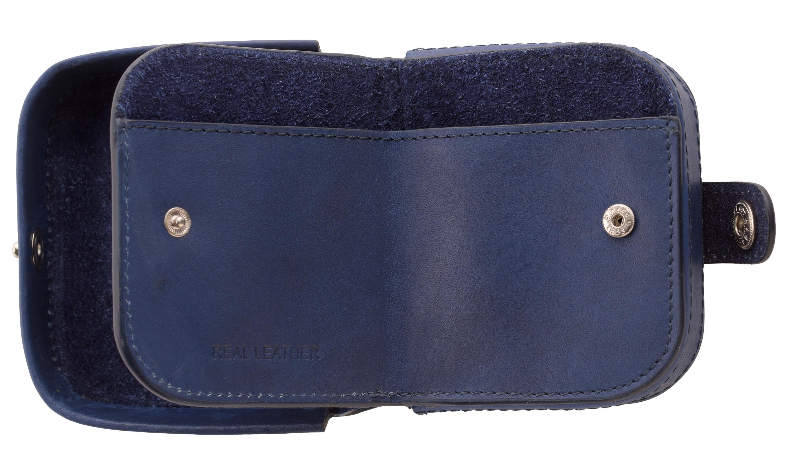 Hommes-Premium-Grade-Cuir-Plateau-Porte-Monnaie-avec-Note-Section-Noir-Bleu-Brun miniature 11