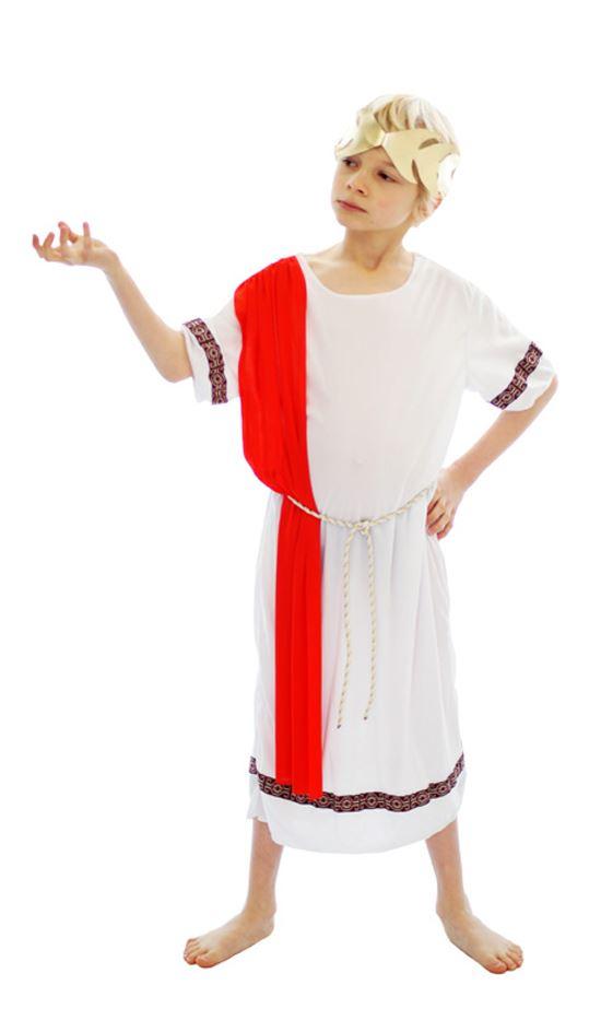 nino-romano-emperador-Toga-CARNAVAL-Griego-Disfraz