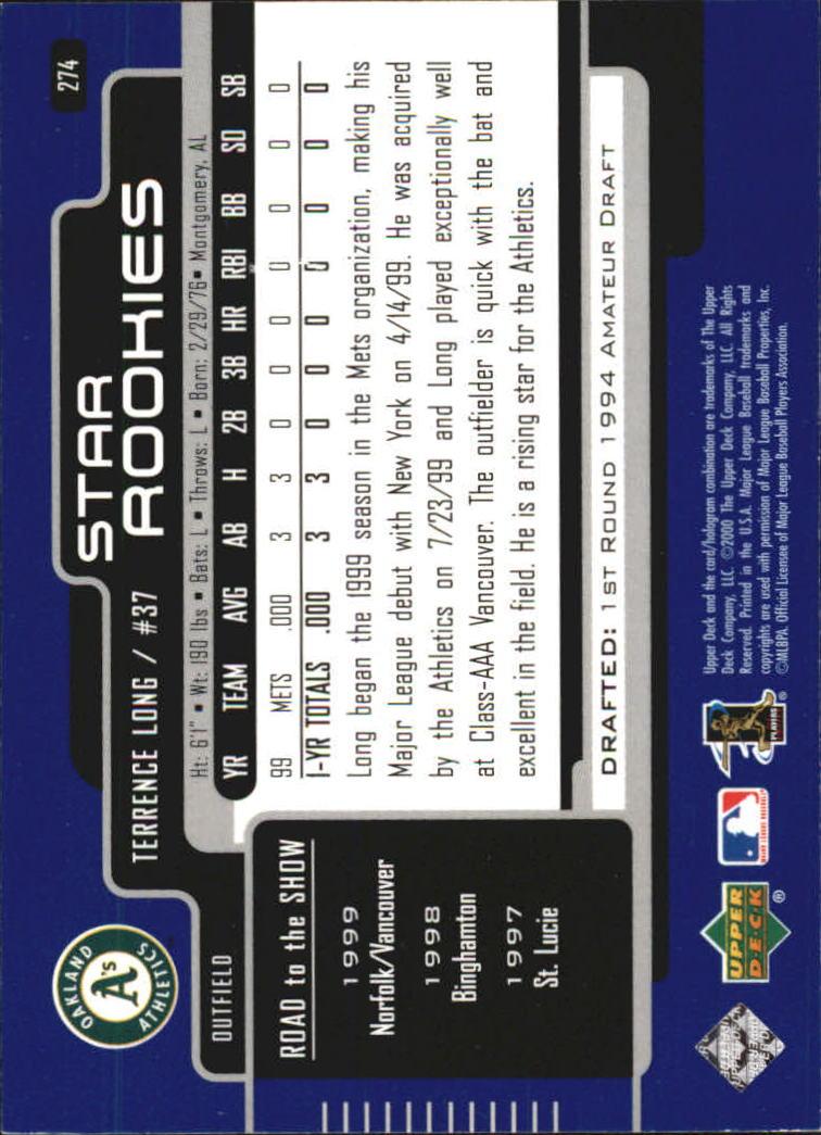 2000-Upper-Deck-Beisbol-Tarjeta-Recoger-274-540 miniatura 3