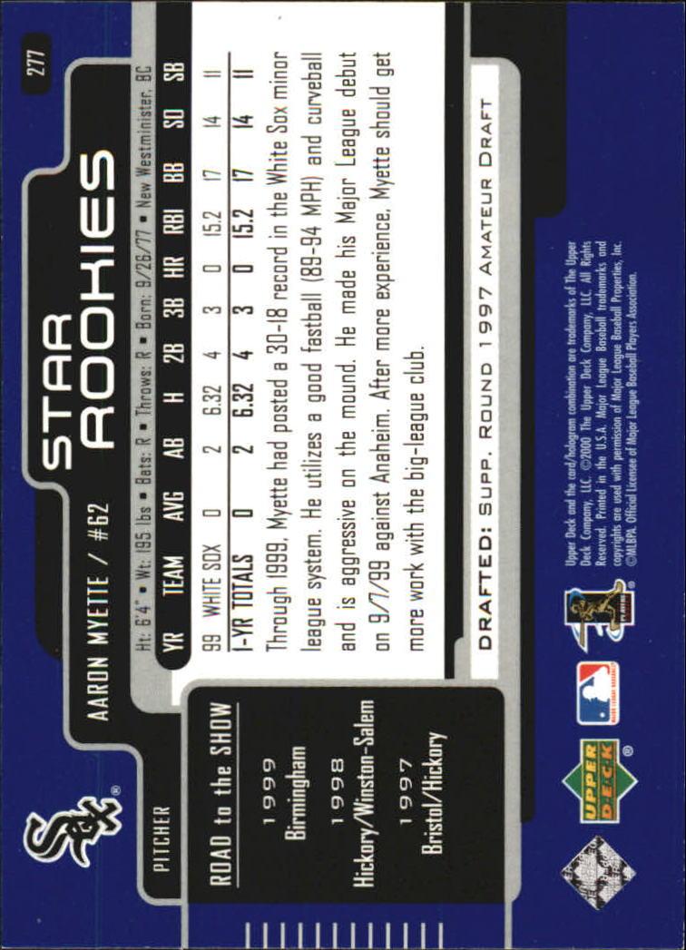2000-Upper-Deck-Beisbol-Tarjeta-Recoger-274-540 miniatura 9