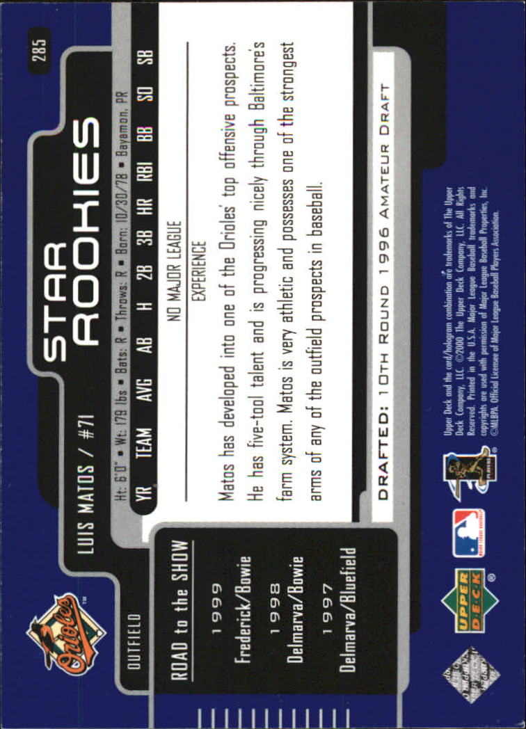 2000-Upper-Deck-Beisbol-Tarjeta-Recoger-274-540 miniatura 25