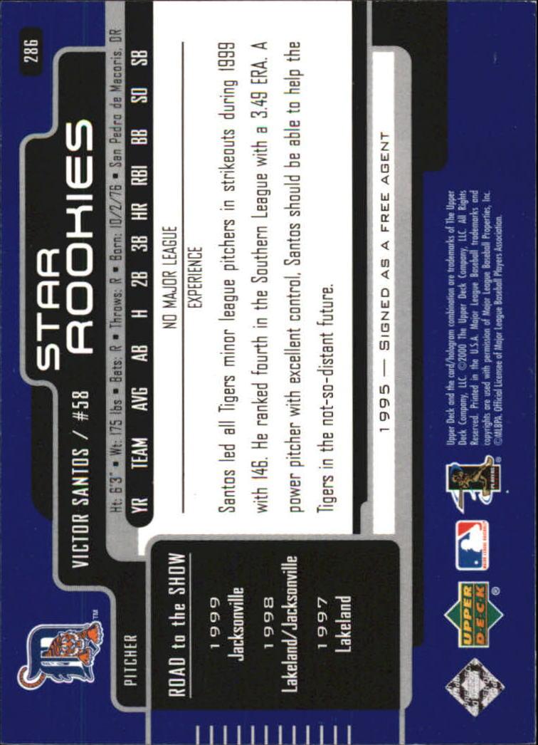 2000-Upper-Deck-Beisbol-Tarjeta-Recoger-274-540 miniatura 27