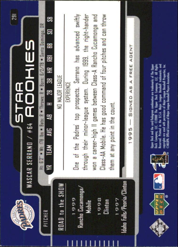 2000-Upper-Deck-Beisbol-Tarjeta-Recoger-274-540 miniatura 37