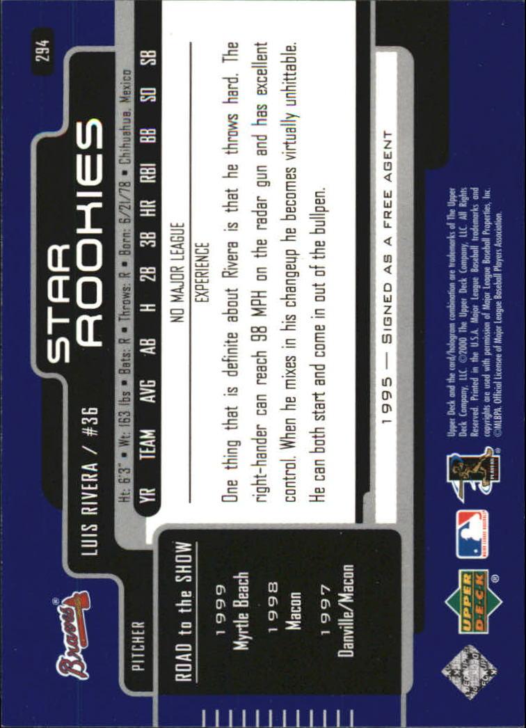2000-Upper-Deck-Beisbol-Tarjeta-Recoger-274-540 miniatura 41