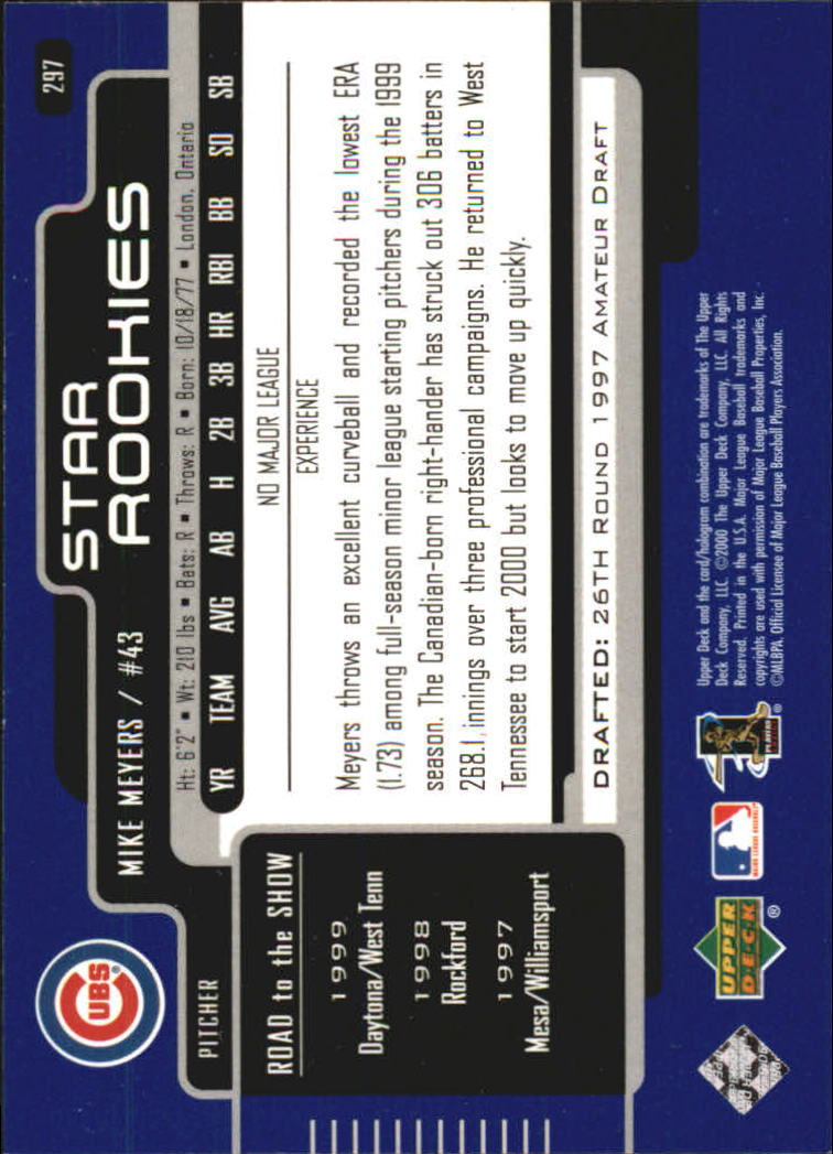 2000-Upper-Deck-Beisbol-Tarjeta-Recoger-274-540 miniatura 47