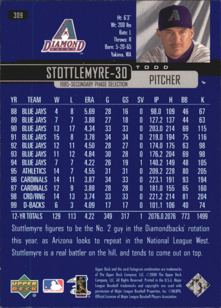 2000-Upper-Deck-Beisbol-Tarjeta-Recoger-274-540 miniatura 71