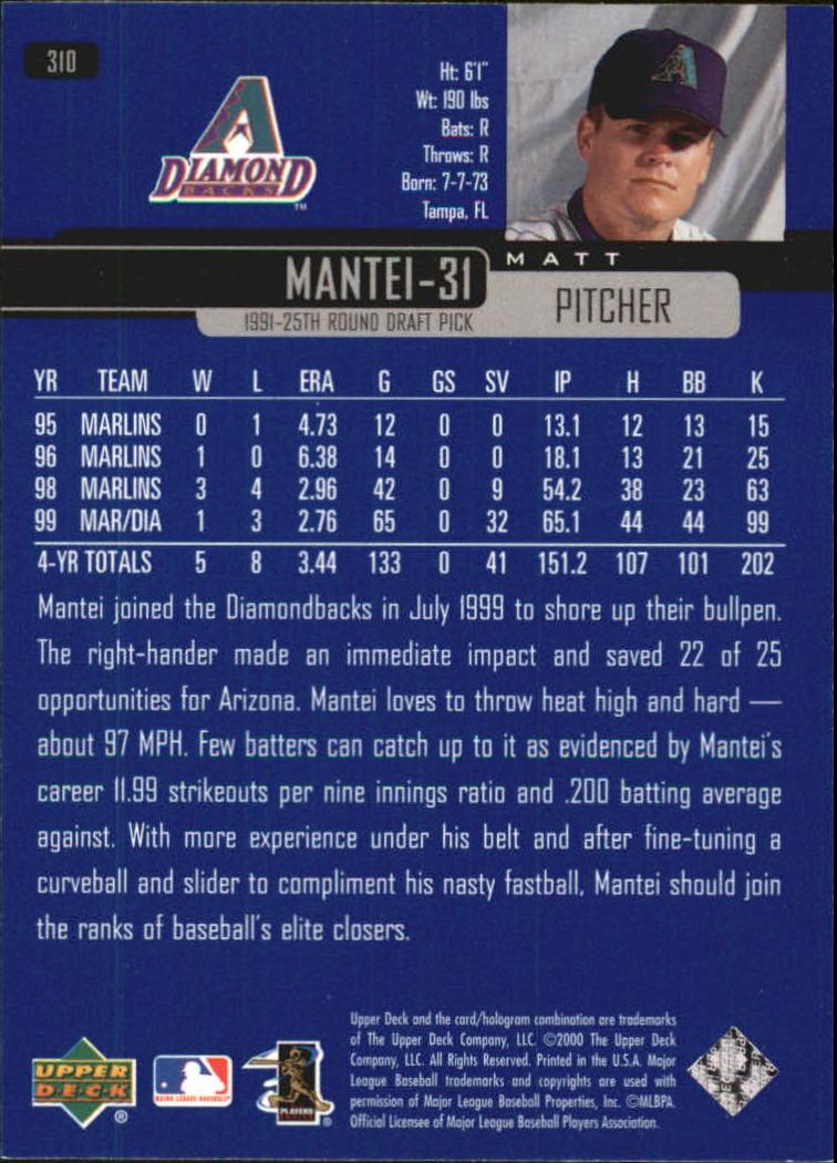 2000-Upper-Deck-Beisbol-Tarjeta-Recoger-274-540 miniatura 73