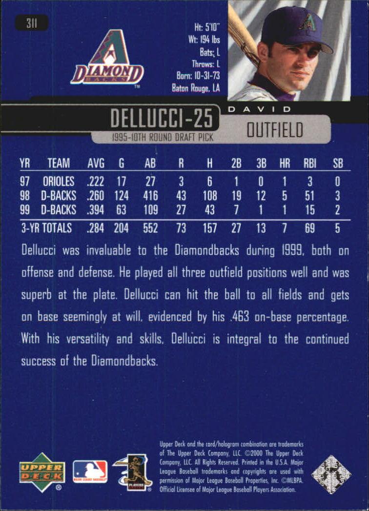 2000-Upper-Deck-Beisbol-Tarjeta-Recoger-274-540 miniatura 75