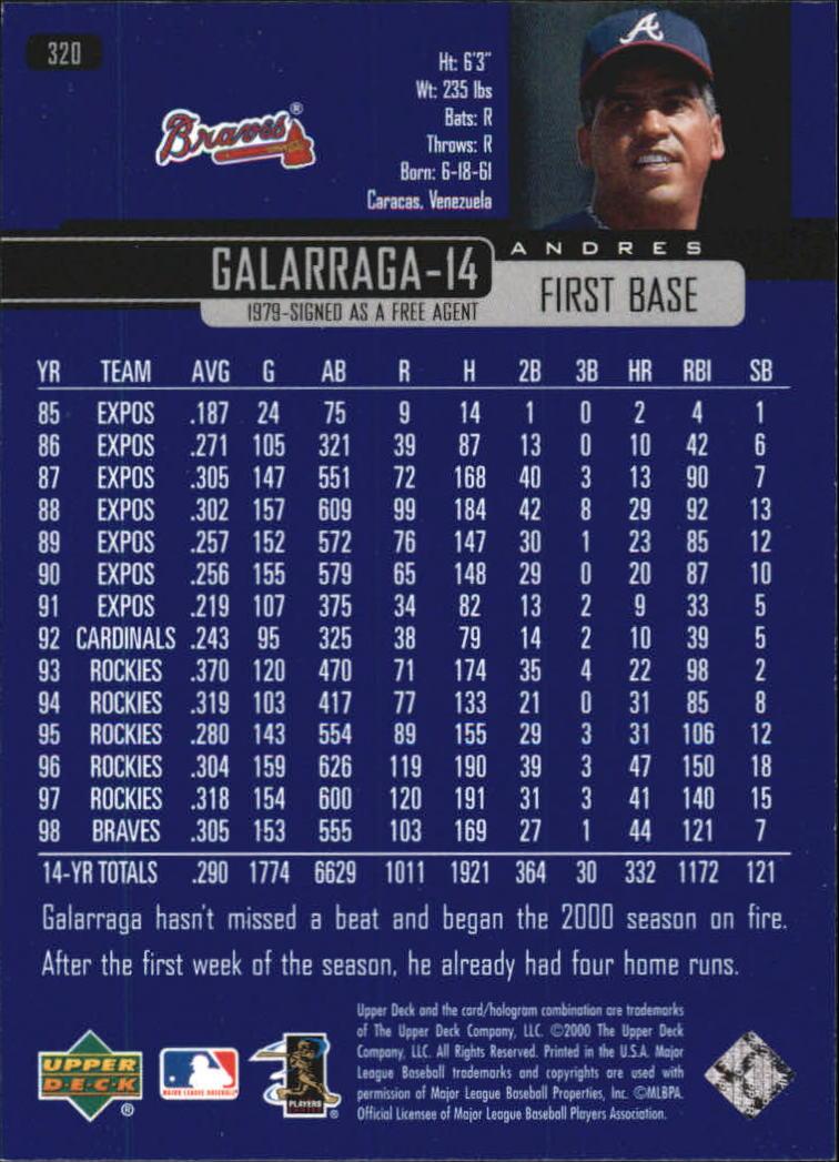 2000-Upper-Deck-Beisbol-Tarjeta-Recoger-274-540 miniatura 93