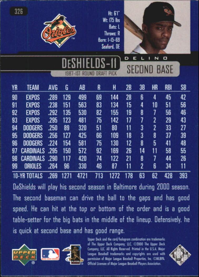 2000-Upper-Deck-Beisbol-Tarjeta-Recoger-274-540 miniatura 105