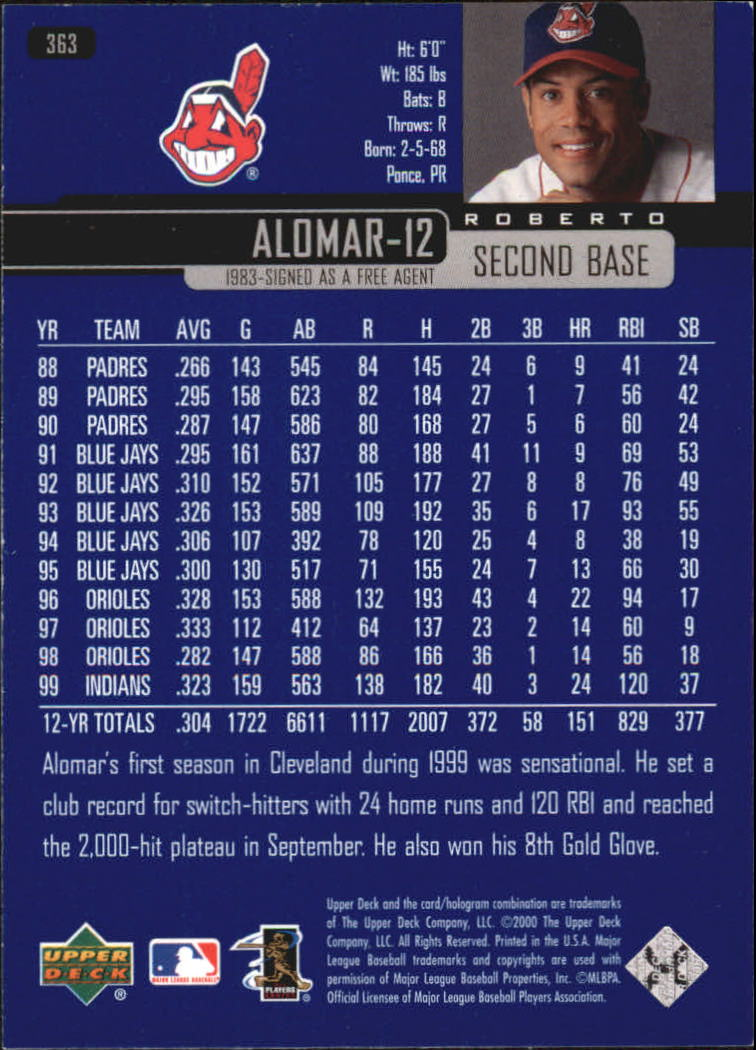 2000-Upper-Deck-Beisbol-Tarjeta-Recoger-274-540 miniatura 171