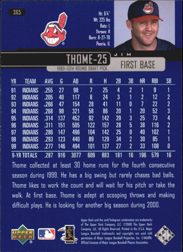 2000-Upper-Deck-Beisbol-Tarjeta-Recoger-274-540 miniatura 175