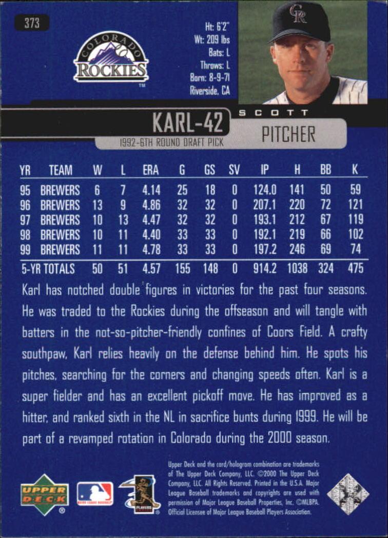 2000-Upper-Deck-Beisbol-Tarjeta-Recoger-274-540 miniatura 189