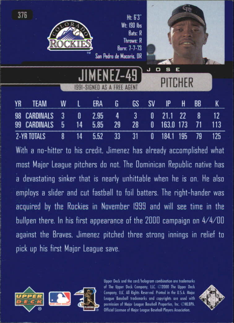 2000-Upper-Deck-Beisbol-Tarjeta-Recoger-274-540 miniatura 195
