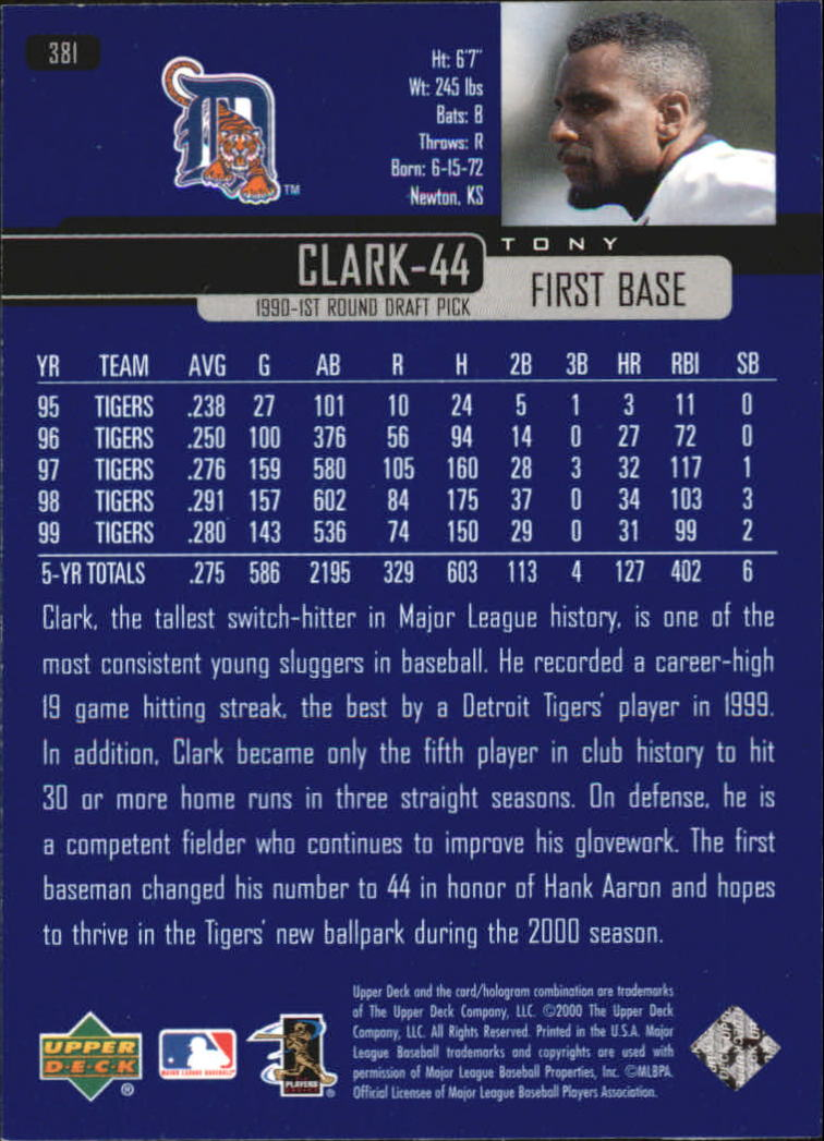 2000-Upper-Deck-Beisbol-Tarjeta-Recoger-274-540 miniatura 205