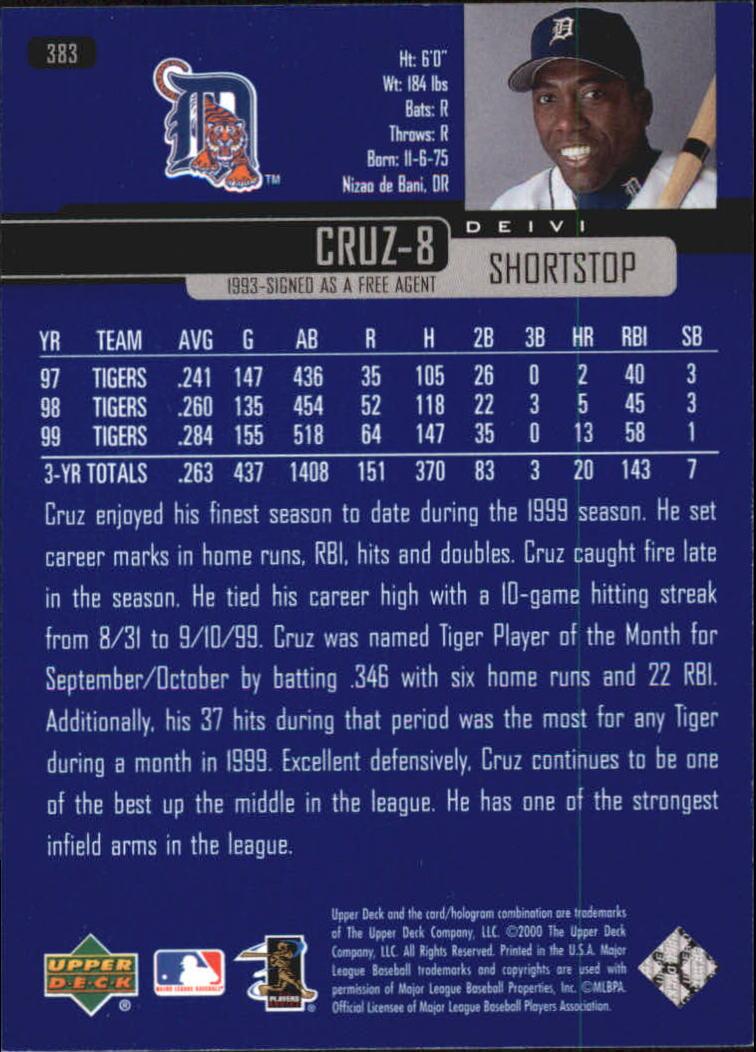2000-Upper-Deck-Beisbol-Tarjeta-Recoger-274-540 miniatura 209