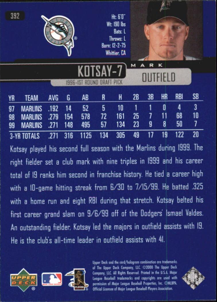 2000-Upper-Deck-Beisbol-Tarjeta-Recoger-274-540 miniatura 225