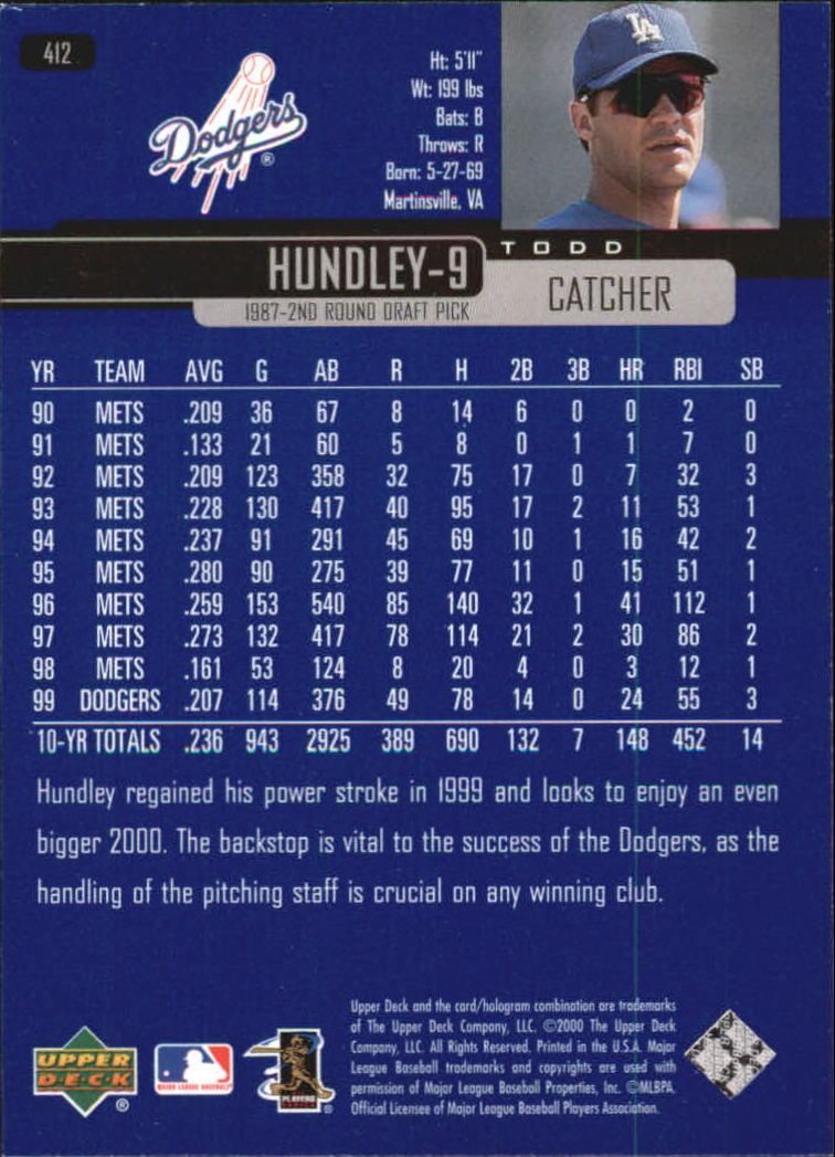 2000-Upper-Deck-Beisbol-Tarjeta-Recoger-274-540 miniatura 261
