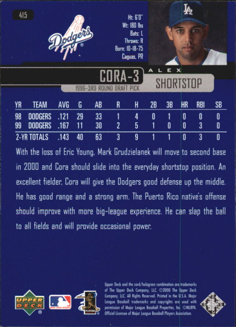2000-Upper-Deck-Beisbol-Tarjeta-Recoger-274-540 miniatura 267
